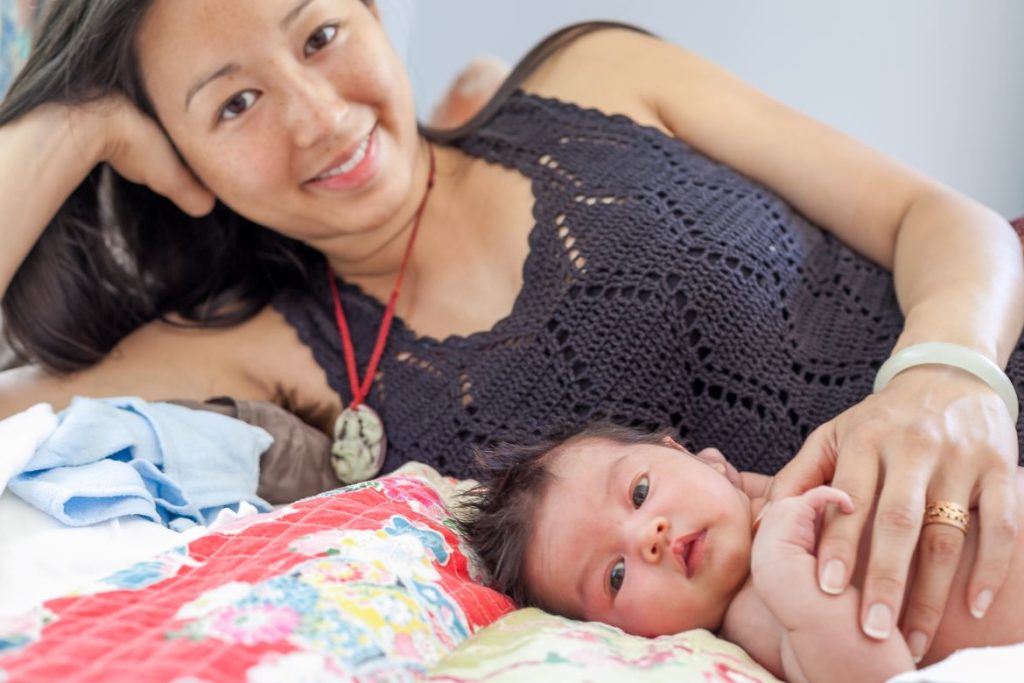 dr jin ong with baby
