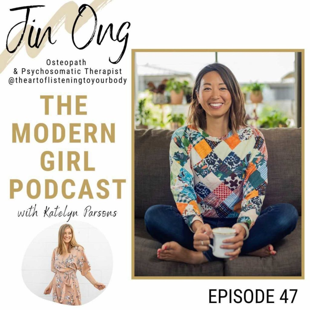 Dr Jin Ong on the modern girl podcast with katelyn parsons