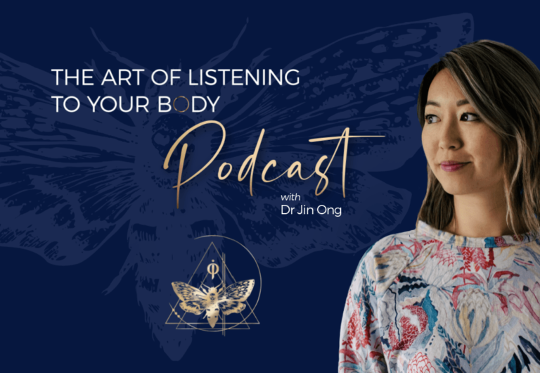 podcast the art of listening to your body hosted by dr jin ong cathartic and emotional release therapy
