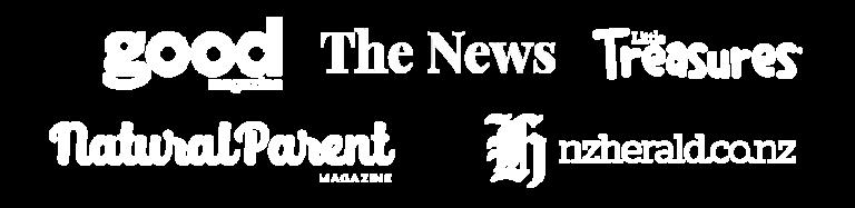 press logos for mobile white